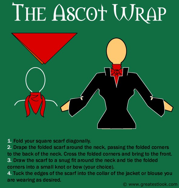 How To Tie A Scarf For An Ascot Wrap